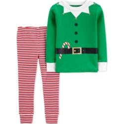 Carters Baby Girls Boys 2 Pc Cotton Elf Pajamas