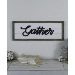 "Vip Home International Wood ""Gather"" Sign"