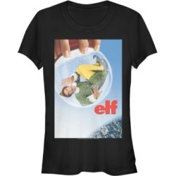 Fifth Sun Elf Snow Globe Poster Women's Short Sleeve T-Shirt found on MODAPINS from Macy's for USD $24.99
