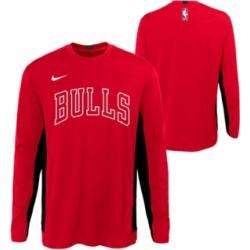 Nike Big Boys Chicago Bulls Long Sleeve Shooter T-Shirt