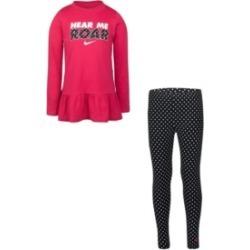 Nike Little Girls Peplum T-shirt and Leggings Set found on Bargain Bro India from Macy's for $44.00