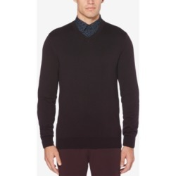 Perry Ellis Men's End-On-End Stripe V-Neck Sweater found on MODAPINS from Macys CA for USD $31.39