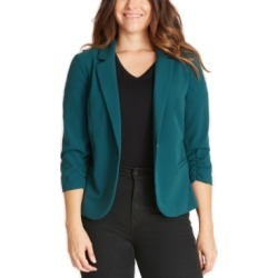 Bcx Juniors' Ruched-Sleeve Blazer found on MODAPINS from Macy's for USD $59.00