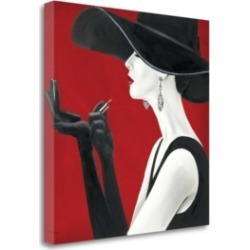 Tangletown Fine Art Haute Chapeau Rouge Ii by Marco Fabiano Giclee Print on Gallery Wrap Canvas, 35