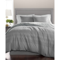 Martha Stewart Collection Eyelet Stripe Cotton 8-Pc. Queen Comforter Set, Created for Macy's Bedding