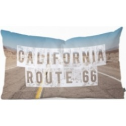 Deny Designs Catherine McDonald California Route 66 Oblong Throw Pillow
