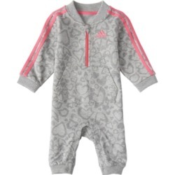 Adidas Baby Girls Long Sleeve Leo Print French Terry Coverall found on Bargain Bro India from Macy's for $26.99