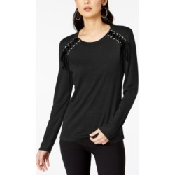Inc Petite Ribbon-Laced Sweatshirt, Created For Macy's found on Bargain Bro India from Macy's Australia for $37.85