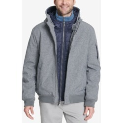 Tommy Hilfiger Men's Big & Tall Hooded Soft-Shell Jacket with Inset Quilted Puffer Bib found on Bargain Bro Philippines from Macy's for $225.00