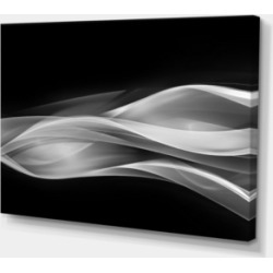 Designart Glittering Silver Pattern Abstract Canvas Art Print - 32