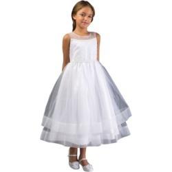 Bonnie Jean Big Girl Beaded Illusion Communion Dress