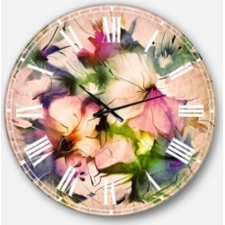Designart Floral Oversized Round Metal Wall Clock found on Bargain Bro Philippines from Macy's Australia for $301.11