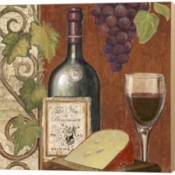 Wine And Cheese Tas4 By Art Licensing Studio Canvas Art