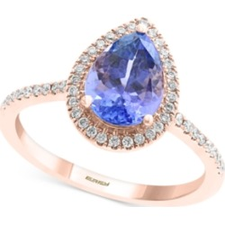 Effy Tanzanite (1-1/2 ct. t.w.) & Diamond (1/4 ct. t.w.) Statement Ring in 14k Rose Gold found on Bargain Bro India from Macys CA for $1438.74
