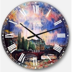Designart Oversized Round Metal Wall Clock found on Bargain Bro Philippines from Macy's Australia for $149.26