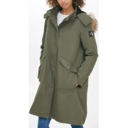 Calvin Klein Jeans Faux-Fur-Trim Hooded Walker Coat found on Bargain Bro India from Macy's for $58.96