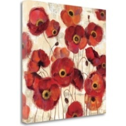 Tangletown Fine Art Bold Poppies by Silvia Vassileva Giclee Print on Gallery Wrap Canvas, 35
