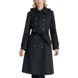 London Fog Double-Breasted Hooded Water-Resistant Trench Coat found on MODAPINS from Macys CA for USD $151.29