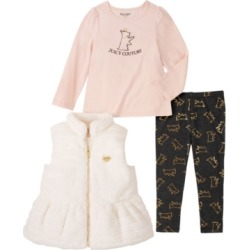 Juicy Couture Toddler Girls Vest, Tee and Foil Print Juicy Dog Legging Set found on MODAPINS from Macy's for USD $80.00