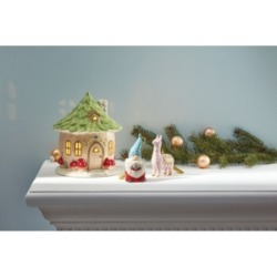 Closeout! Lenox Light-Up Christmas Gnome House Figurine
