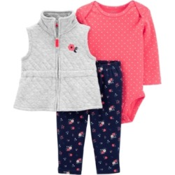Carter's Baby Girl 3-Piece Quilted Little Vest Set found on Bargain Bro India from Macy's Australia for $20.18