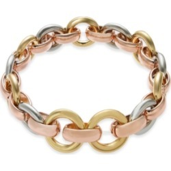 Alfani Tri-Tone Hoop Link Stretch Bracelet, Created for Macy's found on Bargain Bro India from Macy's Australia for $31.61