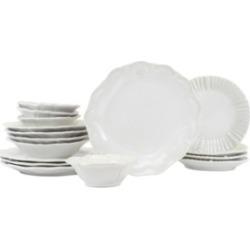 Vietri Incanto Stone Assorted 16-pc Dinnerware Set, Service for 4