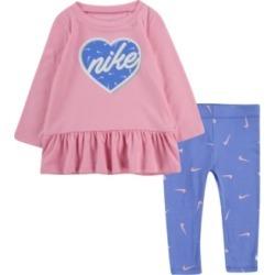 Nike Baby Girls Peplum T-Shirt and Leggings Set found on Bargain Bro India from Macy's for $29.99