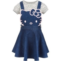 Hello Kitty Toddler Girls 2-Pc. Denim Skirtall & T-Shirt Set found on MODAPINS from Macy's for USD $48.00
