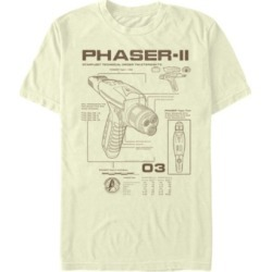 Star Trek Men's Discovery Phaser Schematic Short Sleeve T-Shirt found on Bargain Bro Philippines from Macy's for $24.99