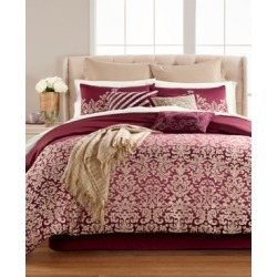 Martha Stewart Collection Antique Damask Reversible 220-Thread 14-Pc. King Comforter Set, Created for Macy's Bedding