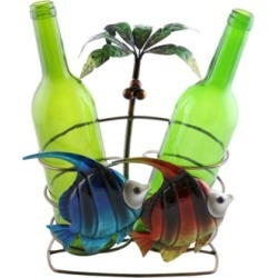 Wine Bodies Palm Tree and Fish Wine Bottle Holder