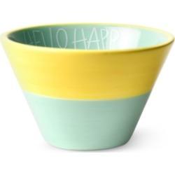 Coton Colors by Laura Johnson Mint Hello Happy Appetizer Bowl