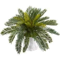 Nearly Natural Cycas Artificial Plant in Marble Finished Vase