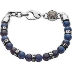 Diesel Men's Beads Stainless Steel and African Blue Stone Beaded Bracelet found on Bargain Bro India from Macy's Australia for $100.55