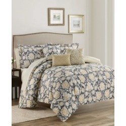 Alexandra Floral 10-Piece Reversible King Comforter Set Bedding found on Bargain Bro from Macy's for USD $112.47