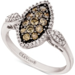 Le Vian Chocolate Diamond (3/8 ct. t.w.) & Nude Diamond (1/4 ct. t.w.) Marquise Cluster Ring in 14k White Gold found on Bargain Bro India from Macy's for $927.60