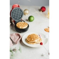 Bella Mini Waffle Maker, Gingerbread Red