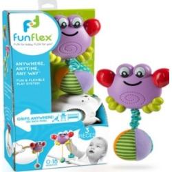 Fun Flex Best Award Winning 3-In-1 Infant Baby Dancing Crab Activity Toy Set