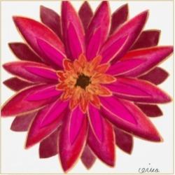 June Erica Vess Bright Blossoms Iii Childrens Art Canvas Art - 36.5