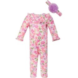 First Impressions Baby Girls Watercolor Floral Coverall Set, Created for Macy's found on Bargain Bro India from Macy's for $15.60