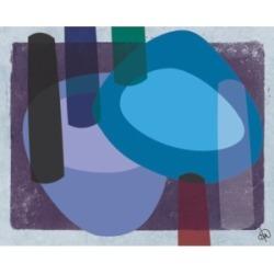 "Creative Gallery Retro Boomerang Drummer Blues Abstract 36"" x 24"" Canvas Wall Art Print"