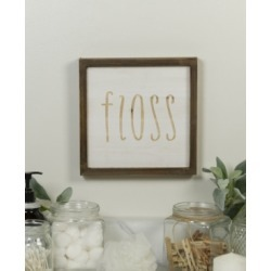 "Vip Home International Wood ""Floss"" Sign"