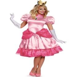 Buy Seasons Women's Super Mario Brothers Deluxe Princess Peach Costume