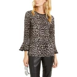 Michael Michael Kors Leopard-Print Flare-Sleeve Top, Regular & Petite Sizes found on Bargain Bro Philippines from Macy's Australia for $71.98