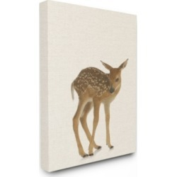 "Stupell Industries Just A Cute Deer Canvas Wall Art, 30"" x 40"""