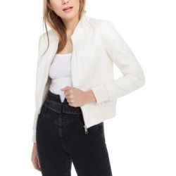 Guess Melissa Faux-Leather Bomber Jacket found on MODAPINS from Macy's for USD $64.80