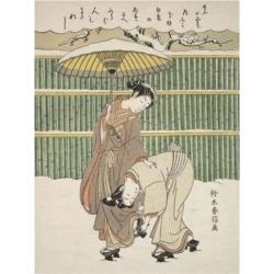 Suzuki Harunob Japanese Motif Canvas Art - 15.5
