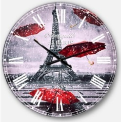 Designart Cityscapes Oversized Round Metal Wall Clock found on Bargain Bro Philippines from Macy's Australia for $212.05