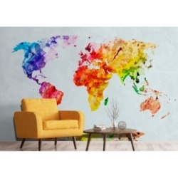 World Map Wall Mural found on Bargain Bro from Macy's for USD $116.27
